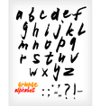 Grunge handwritten alphabet set vector image