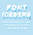 iceberg font 3d letters of ice ice alphabet vector image
