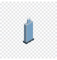 isolated skyscraper isometric business center vector image