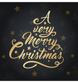 Lettering in the form of a Christmas tree vector image