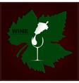 Logo wine vector image
