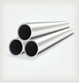 Metal tube vector image