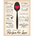 Recipe card Wedding Invitation cooking concept vector image