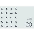 Set of womens shoes icons vector image