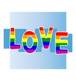 Stock background with gay pride vector image