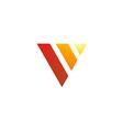 triangle shape V letter design logo vector image