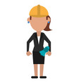 woman architect avatar vector image