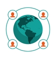 world people communication relation vector image