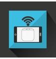 smartphone calendar internet wifi icon vector image