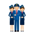 Isolated pilot and stewardess design vector image
