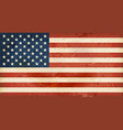 USA flag with grunge elements vector image