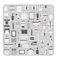 flat icons bathroom and toilet vector image vector image