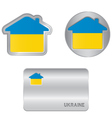 Home icon on the Ukraine flag vector image vector image