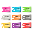Options numbers infographics element vector image vector image