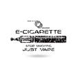 E cigarette emblem vector image