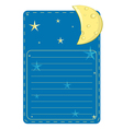 stars and the moon poster vector image vector image