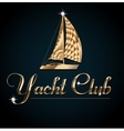 Yacht club Flyer design template vector image