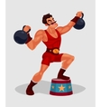 a circus weightlifter vector image