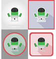 electric repair tools flat icons 15 vector image