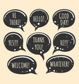 grunge doodle speech bubble icons vector image