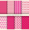 heart patterns set seamless backgrounds for vector image