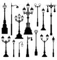 Street lamp set street lights city sign vector image