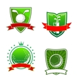 Golf emblems and symbols vector image vector image