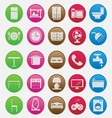 Furniture Icon Set Gradient Style vector image vector image