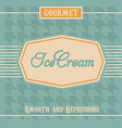 Ice Cream Label vector image