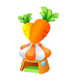 icon carrot vector image vector image