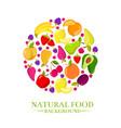 fresh organic cartoon fruits icons design vector image