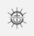 logo sea travel vector image