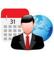 people business icon vector image