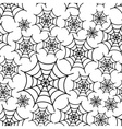 spider white web seamless pattern eps10 vector image