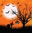 grunge halloween background 2508 vector image