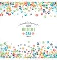 background of world wildlife day vector image
