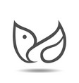 abstract bird symbol icon vector image