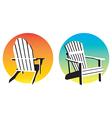 Adirondack Chair Sunset Graphics vector image