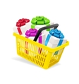 Basket and Present vector image