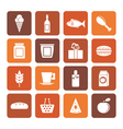 Flat shop food and drink icons vector image
