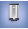 Hot-water tank chrome plated vector image