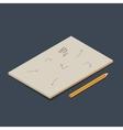 Isometric copybook vector image