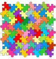 puzzles vector image