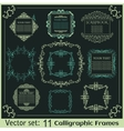 Set of Vintage calligraphic frames vector image