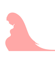 Abstract background with pregnant woman silhouette vector image