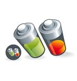Two battery charge vector image vector image