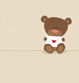 Love bear with love letter vector image