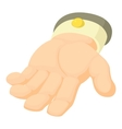 Human hand icon cartoon style vector image