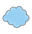 cloud weather isolated icon vector image vector image