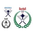 Baseball sport club emblem vector image